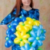 (Kimp-091) Õhupallide lillekimp 91